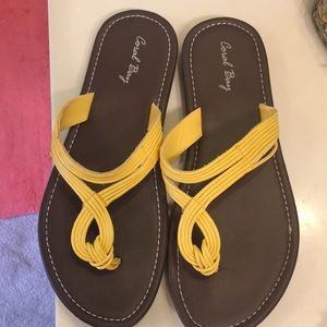 Size 8 Bright Yellow Sandals